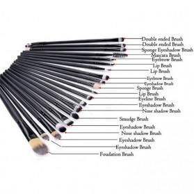 Cosmetic Make Up Brush 20 Set / Kuas Make Up - Black - 2