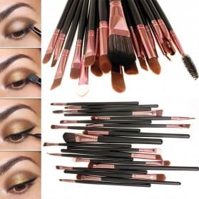 Cosmetic Make Up Brush 20 Set / Kuas Make Up - Black - 8
