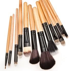 Brush Make Up Kosmetik 12 Set dengan Sarung Leopard - Brown - 6