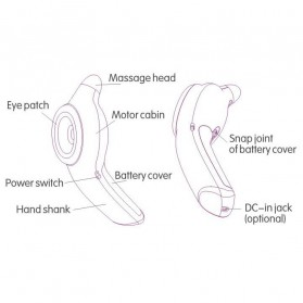 Anti Vibration Eye Care Myopia Instrument / Alat Pijat Mata - Blue - 4