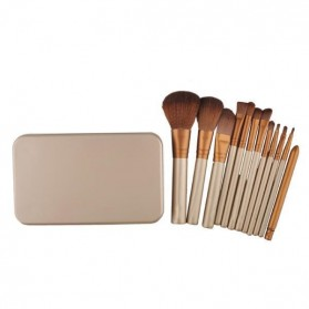 NAKED3 Make Up Brush 12 Set with Tin Case / Kuas Make Up - 2