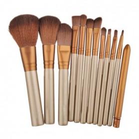 NAKED3 Make Up Brush 12 Set with Tin Case / Kuas Make Up - 3