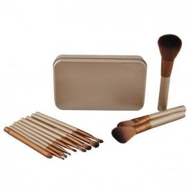 NAKED3 Make Up Brush 12 Set with Tin Case / Kuas Make Up - 4