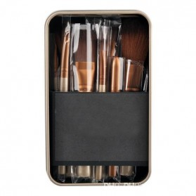 NAKED3 Make Up Brush 12 Set with Tin Case / Kuas Make Up - 5