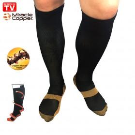 Miracle Copper Socks Stovepipe Healthy S/M Size / Kaos Kaki Kesehatan - F2001 - Black - 2