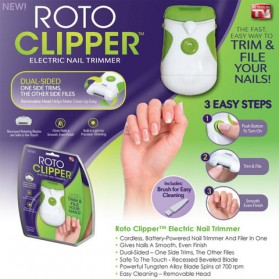 Roto Clipper Electric Nail Trimmer / Gunting Kuku Elektrik - White/Green