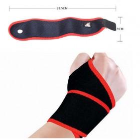 TONQUU Pelindung Tangan Olahraga Fitness Wristband Strap Support - A-7638 - Black - 4