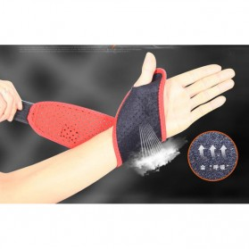 TONQUU Pelindung Tangan Olahraga Fitness Wristband Strap Support - A-7638 - Black - 5