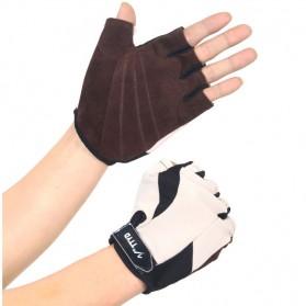 Sport Exercise Bike Half Finger Gloves / Sarung Tangan Pelindung - Black
