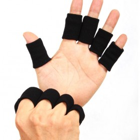 Sport Nylon Retaining Finger Support 1 PCS / Pelindung Jari - Black
