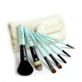 Makeup / Kosmetik - 7 Set Hair Makeup Brush Set  Animal Model / Kuas Wajah - White/Blue