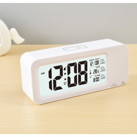 Smart Timepiece Backlight Alarm Clock JP9908 - White