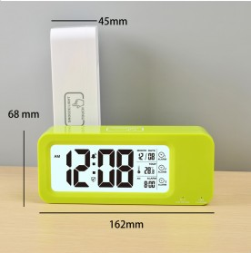 Smart Timepiece Backlight Alarm Clock JP9908 - White - 2