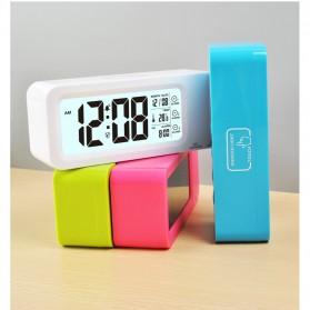 Smart Timepiece Backlight Alarm Clock JP9908 - White - 6