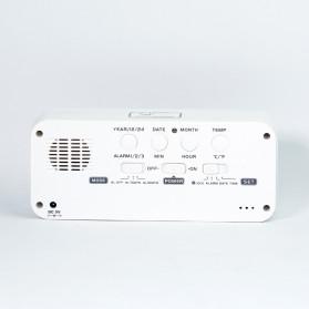 Smart Timepiece Backlight Alarm Clock JP9908 - White - 9