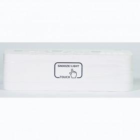 Smart Timepiece Backlight Alarm Clock JP9908 - White - 10