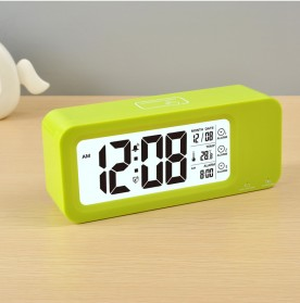 Smart Timepiece Backlight Alarm Clock JP9908 - Green