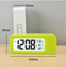 Smart Timepiece Backlight Alarm Clock JP9908 - Green - 2