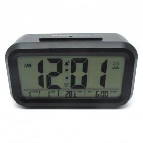 Smart Timepiece Backlight Alarm Clock JP9901-2 / Jam Alarm - White - 4