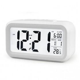 Smart Timepiece Backlight Alarm Clock JP9901-2 / Jam Alarm - White - 5