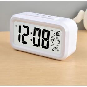 Smart Timepiece Backlight Alarm Clock JP9901-2 / Jam Alarm - White - 6