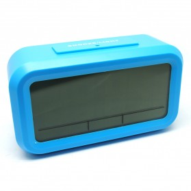 Smart Timepiece Backlight Alarm Clock JP9901-2 / Jam Alarm - Blue