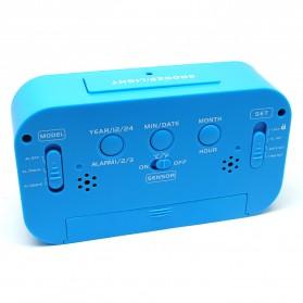 Smart Timepiece Backlight Alarm Clock JP9901-2 / Jam Alarm - Blue - 2