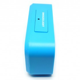 Smart Timepiece Backlight Alarm Clock JP9901-2 / Jam Alarm - Blue - 3