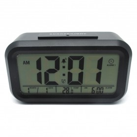 Smart Timepiece Backlight Alarm Clock JP9901-2 / Jam Alarm - Blue - 4