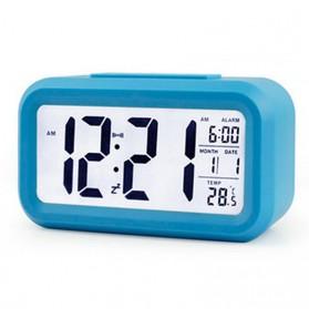 Smart Timepiece Backlight Alarm Clock JP9901-2 / Jam Alarm - Blue - 5
