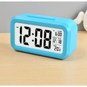 Smart Timepiece Backlight Alarm Clock JP9901-2 / Jam Alarm - Blue - 6