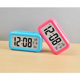 Smart Timepiece Backlight Alarm Clock JP9901-2 / Jam Alarm - Blue - 7