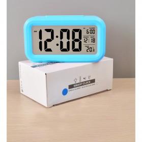 Smart Timepiece Backlight Alarm Clock JP9901-2 / Jam Alarm - Blue - 9