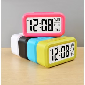 Smart Timepiece Backlight Alarm Clock JP9901-2 / Jam Alarm - Blue - 10