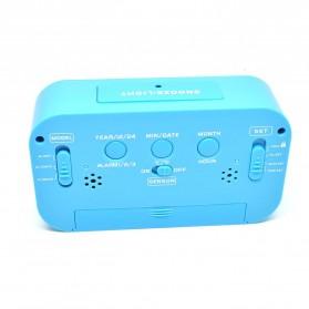 Smart Timepiece Backlight Alarm Clock JP9901-2 / Jam Alarm - Blue - 11