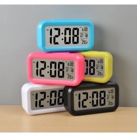 Smart Timepiece Backlight Alarm Clock JP9901-2 / Jam Alarm - Blue - 13