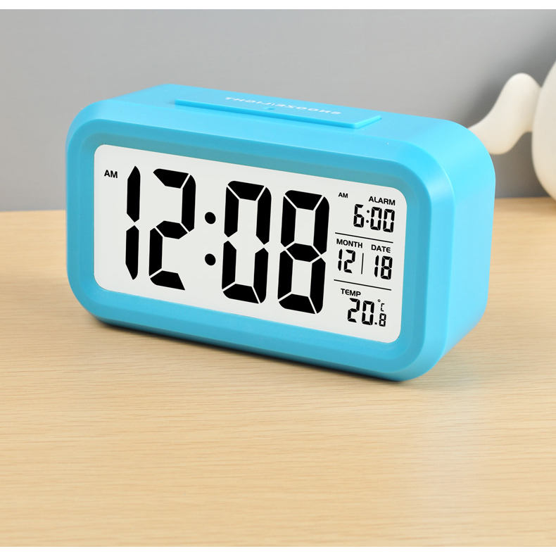 ... Smart Timepiece Backlight Alarm Clock JP9901-2 / Jam Alarm - Blue - 6 ...