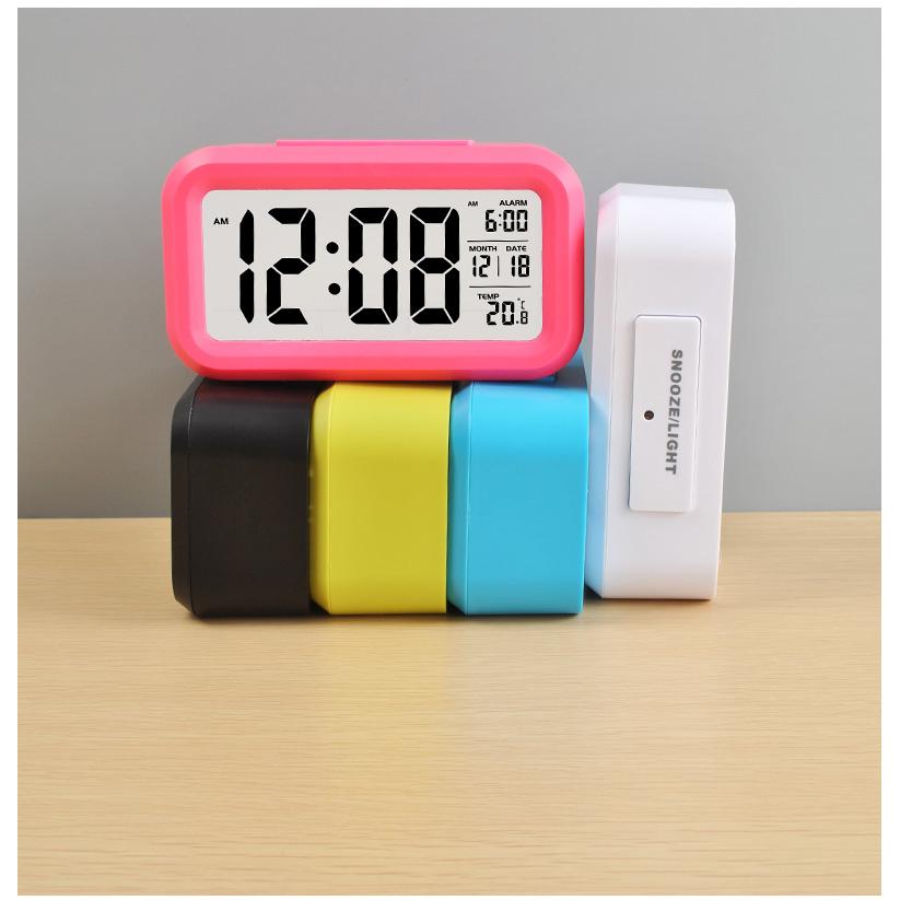 ... Smart Timepiece Backlight Alarm Clock JP9901-2 / Jam Alarm - Blue - 12 ...
