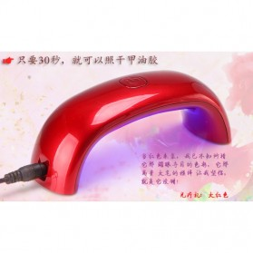 DAYFULI Mini LED Nail Lamp  / Pengering Kutek Kuku - T5T08 - Red - 2