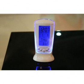 LED Night Light Backlight Alarm Clock with Temperature - 510 - White - 3