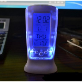 LED Night Light Backlight Alarm Clock with Temperature - 510 - White - 4