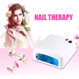 Pengering Kutek Kuku Curing LED Nail Lamp Drying Light Therapy Tools - JD-818 - White