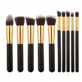 Biutte.co Kuas Make Up Wajah 10 PCS - MAG5167 - Black Gold