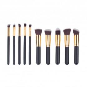 Biutte.co Kuas Make Up Wajah 10 PCS - MAG5167 - Black Gold - 2