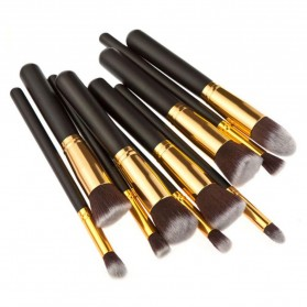 Biutte.co Kuas Make Up Wajah 10 PCS - MAG5167 - Black Gold - 3