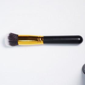 Biutte.co Kuas Make Up Wajah 10 PCS - MAG5167 - Black Gold - 8