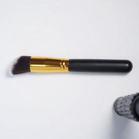 Biutte.co Kuas Make Up Wajah 10 PCS - MAG5167 - Black Gold - 10