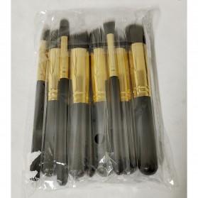 Biutte.co Kuas Make Up Wajah 10 PCS - MAG5167 - Black Gold - 11