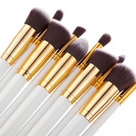 Biutte.co Kuas Make Up Wajah 10 PCS - MAG5167 - White/Gold - 2