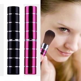 Kuas Make Up Blush On Retractable Brush - Black - 5
